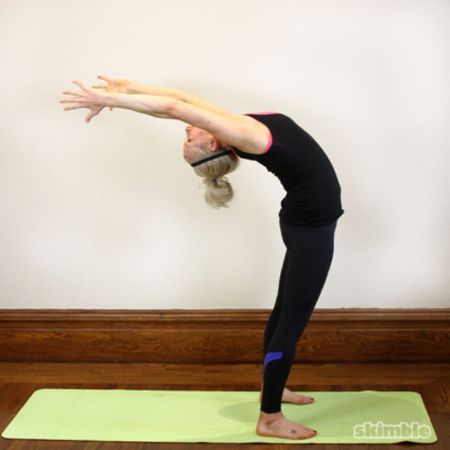 How to do: Standing Backbending Stretch - Step 2