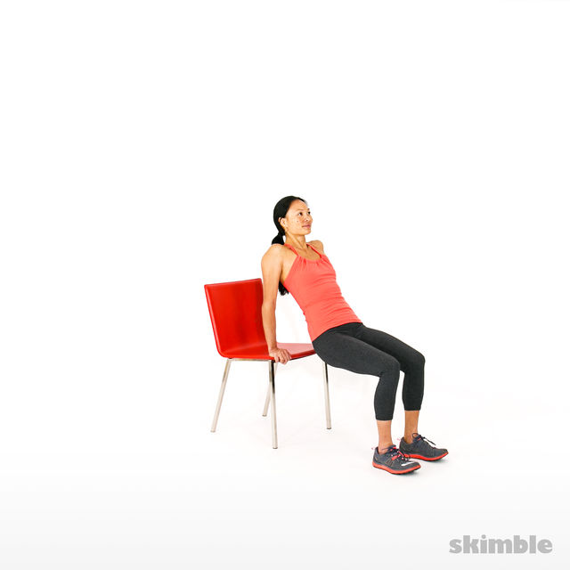 How to do: Chair Tricep Dips - Step 1