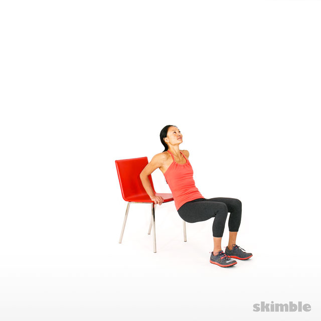 How to do: Chair Tricep Dips - Step 2