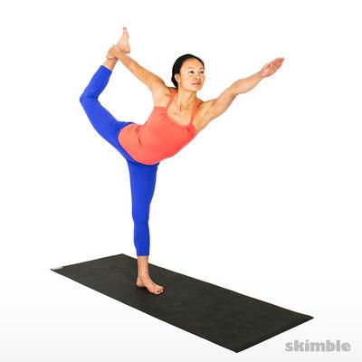 Left Dancer's Pose