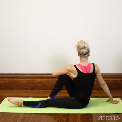 Seated Left Spiral Stretches