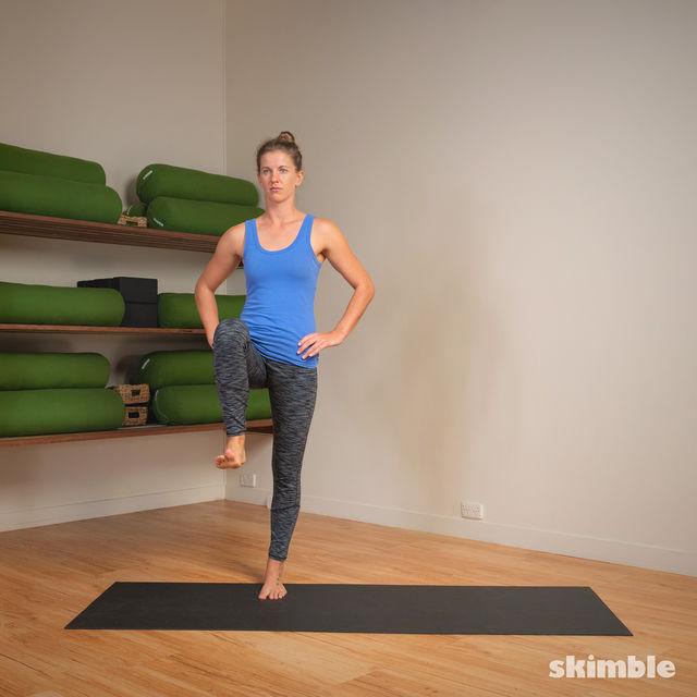 How to do: 4-Square Single Leg Hops - Step 19