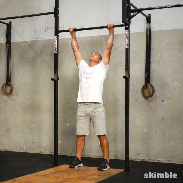 How to do: Burpee Pull-Ups - Step 8