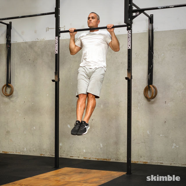How to do: Burpee Pull-Ups - Step 9