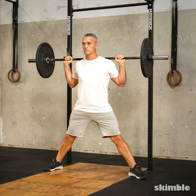 How to do: Barbell Side Split Squat - Step 2