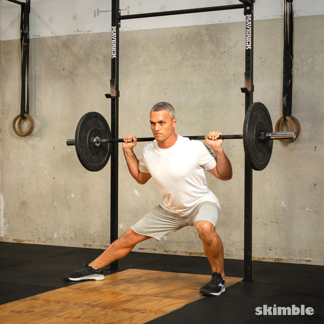 How to do: Barbell Side Split Squat - Step 5
