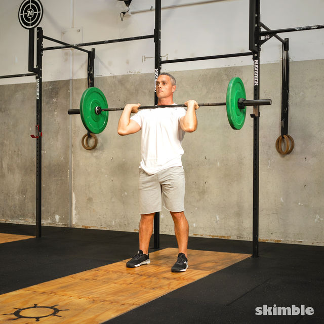 How to do: Split Jerk - Step 6