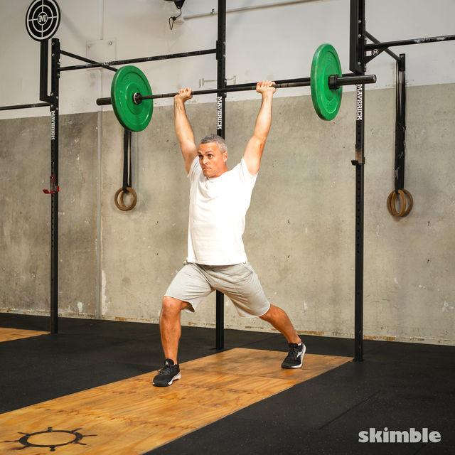 How to do: Split Jerk - Step 7