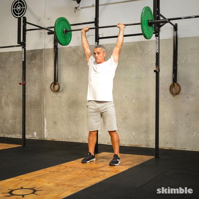 How to do: Split Jerk - Step 8