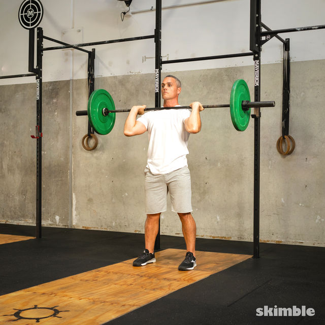 How to do: Split Jerk - Step 9