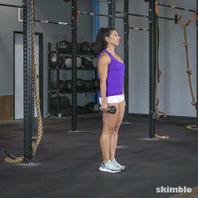 How to do: Left Lunge With Right Rows - Step 1