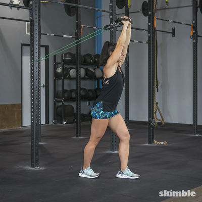 Overhead Tricep Extension with Band