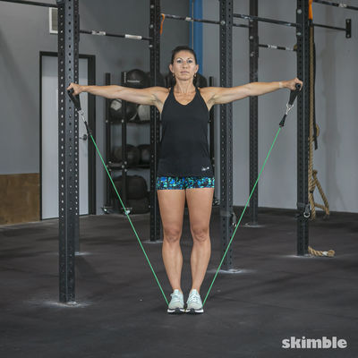 Straight Arm Lateral Raise with Band