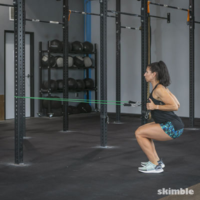 Squat and Row with Band