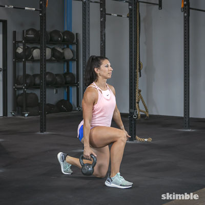 Right Lunges with Kettlebell