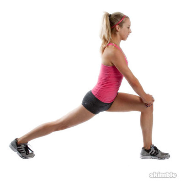 How to do: Left Runner's Lunge - Step 4