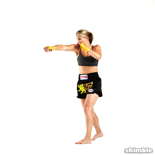 How to do: 1 2 Burpees - Step 4