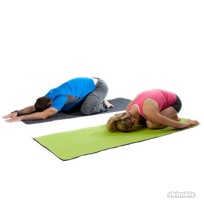 Child's Pose Variation