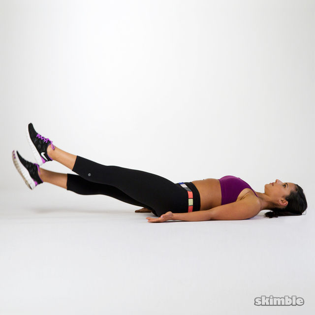 Scissor Kicks - Exercise How-to - Workout Trainer by Skimble