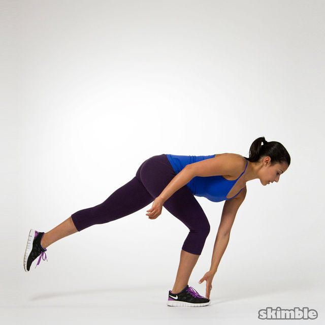 Single-Leg Squat Touchdowns - Exercise How-to - Workout ...