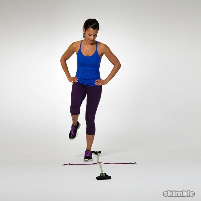 How to do: 4-Square Single Leg Hops - Step 1