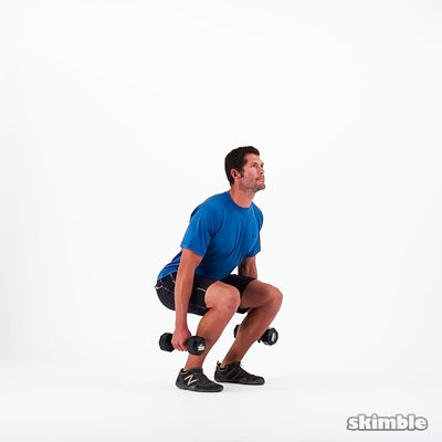 Dumbbell Squats Or Barbell Back Squat (3-10 Reps)