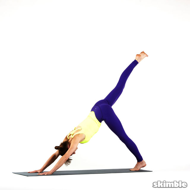 Downward Facing Dog with Right Leg Raise - Exercise How-to ...