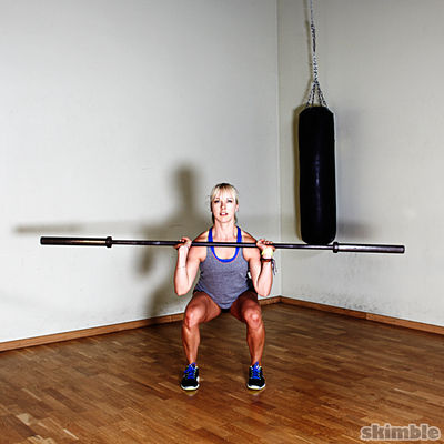 Barbell Front Loaded Squats
