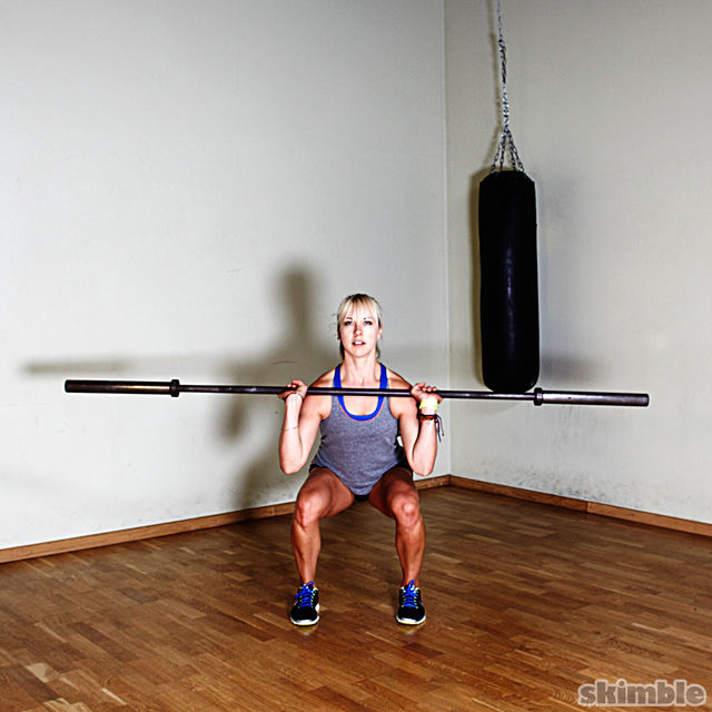 How to do: Barbell Front Loaded Squats - Step 2