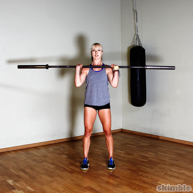 How to do: Barbell Front Loaded Squats - Step 1