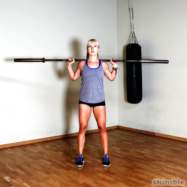 How to do: Barbell Squats - Step 1