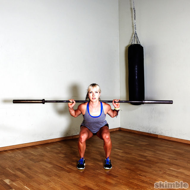 How to do: Barbell Squats - Step 2