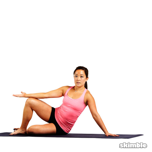 Pilates Left Side Bends - Exercise How-to - Workout ...