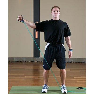 10 Right External Arm Rotations with Diagonal Reach