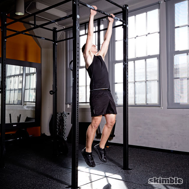 How to do: Burpee Pull-Ups - Step 6