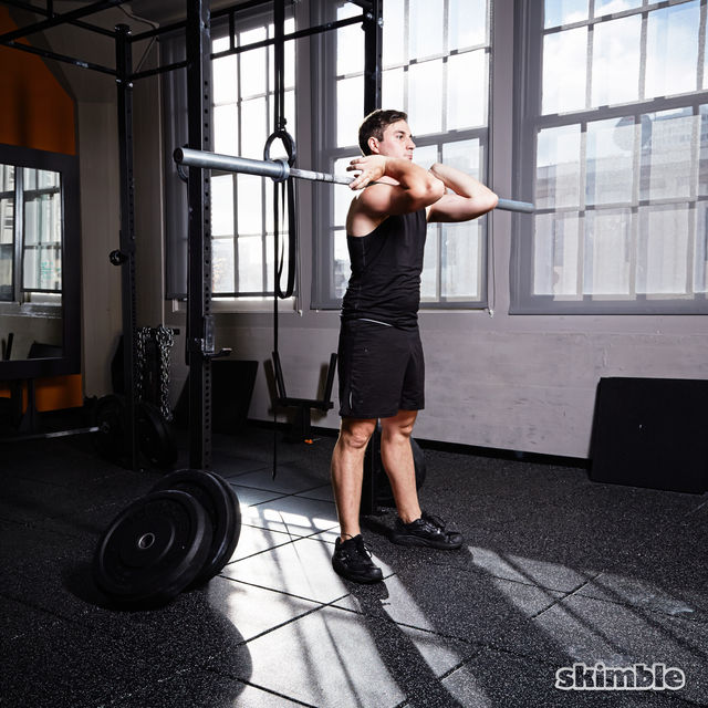 how to keep back straight barbell row