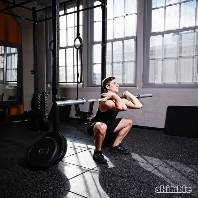 How to do: Barbell Front Loaded Squats - Step 5