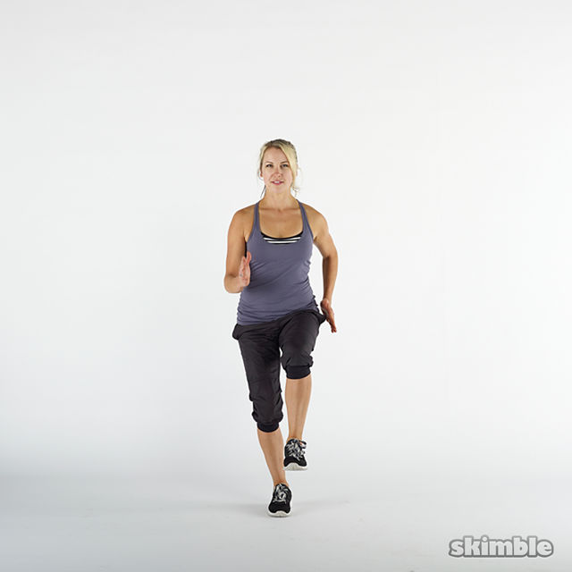 Jog on the Spot - Exercise How-to - Workout Trainer by Skimble