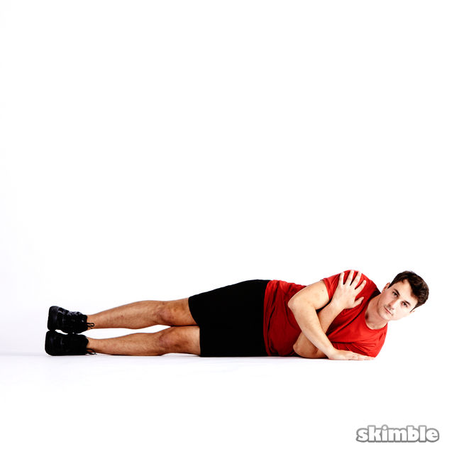 Right tricep push ups exercise how to workout trainer by skimble