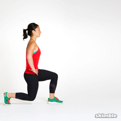 Right Leg Front-and-Back Lunges