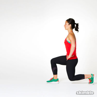 Left Leg Front-and-Back Lunges