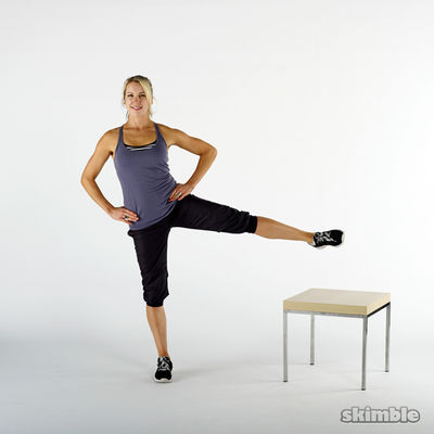 Left Leg Lifts On A Bench