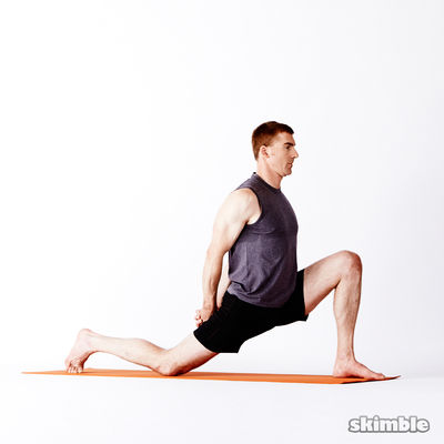 Left Low Lunge with Clasped Hands