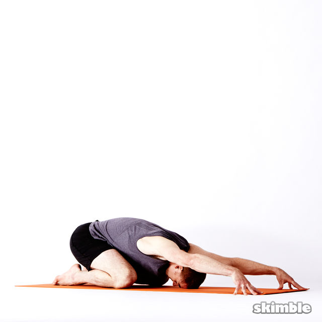 Extended Child's Pose - Exercise How-to - Workout Trainer ...
