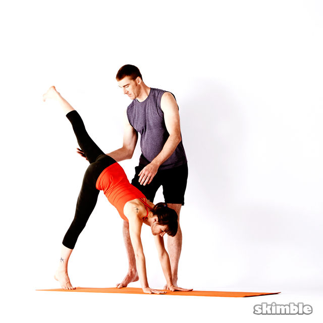 How to do: Assisted Handstand - Step 2