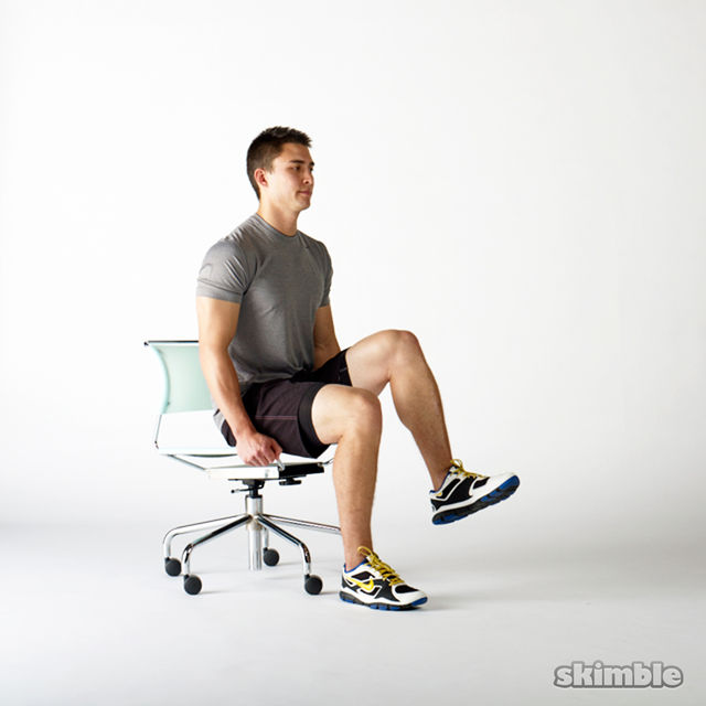 Seated knee raises exercise how to workout trainer by