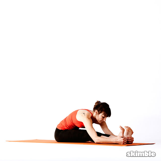 Seated Forward Bend Exercise How To Workout Trainer By