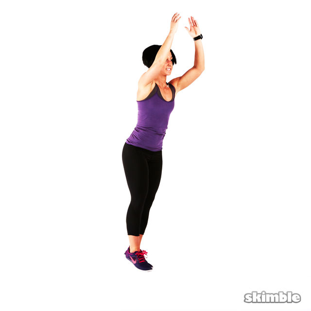 How to do: Back Lunge Kick Jump Switch - Step 6