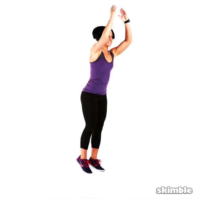 How to do: Back Lunge Kick Jump Switch - Step 2