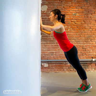 Wall Push-Ups with Clap